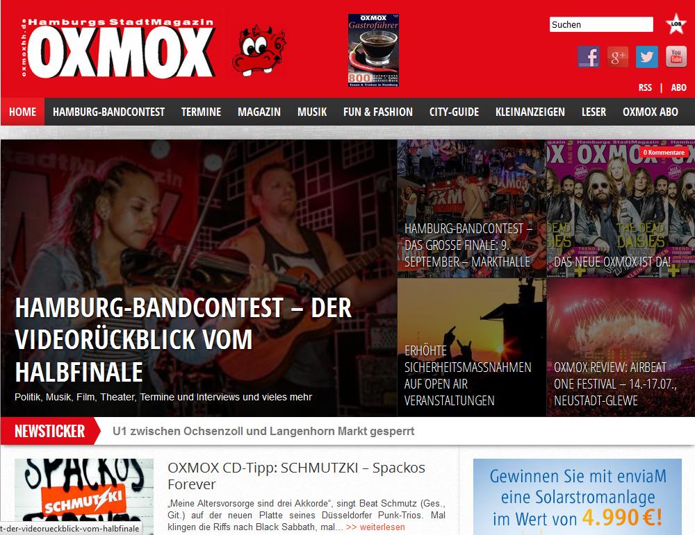 KOA on the front page of OXMOX Magazine