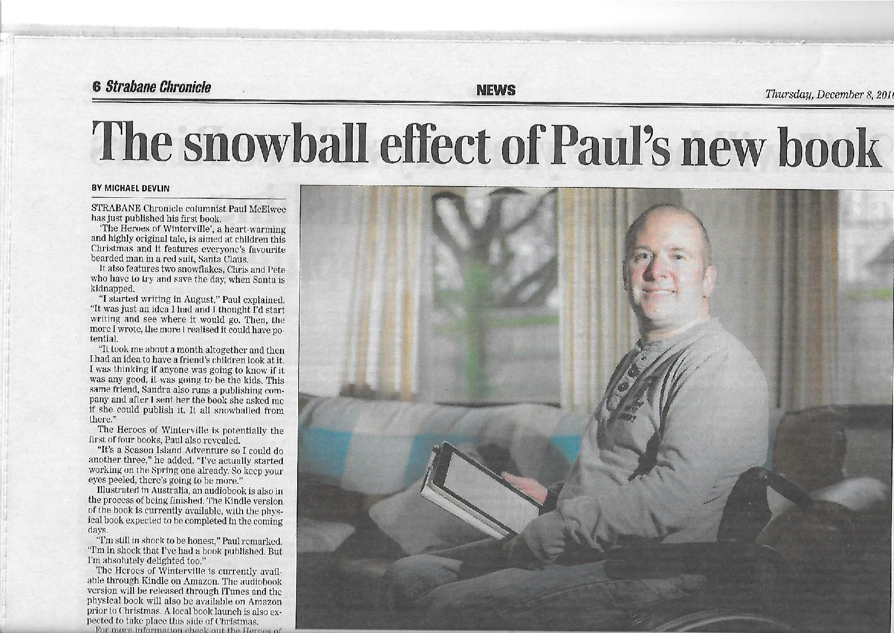"Paul McElwee on his book ""The heroes of Winterville"""