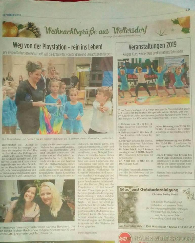 Kulturgesellschaft in der Tagespresse